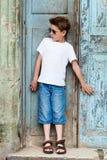 Outdoors boy portrait Stock Image