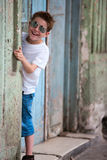 Outdoors boy portrait Stock Images