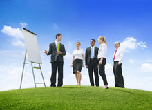 Outdoors Business Presentation Royalty Free Stock Photography
