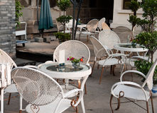 Outdoors cafe Stock Photography