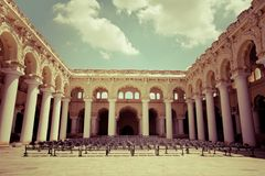 Outdoors concert hall with ancient columns Stock Photography