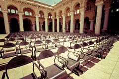 Outdoors concert hall with ancient columns Royalty Free Stock Photography