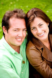 Outdoors couple portrait Royalty Free Stock Images