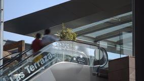 Outdoors Escalator stock video footage