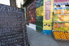 Outdoors fruits shop in Buenos Aires, Argentina Stock Photo