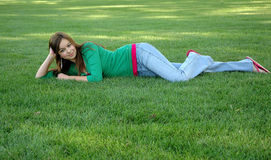 Outdoors and girl-16 Royalty Free Stock Images