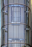 Outdoors glass elevator. In a building in china Stock Photos