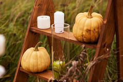 Outdoors Halloween wystrój Obraz Stock