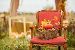 Outdoors Halloween wystrój Zdjęcia Royalty Free