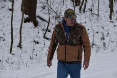 Outdoors in Harrison County WV in Winter at the farm stock photo