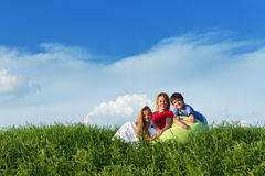 Outdoors with kids Royalty Free Stock Images