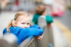 Outdoors little girl portrait Stock Image