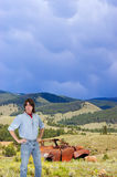 Outdoors Man in American West Landscape Stock Images