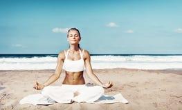 Outdoors meditation stock image