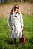 outdoors modna kobieta Obraz Royalty Free