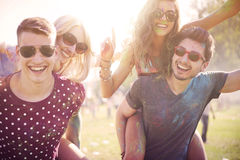 Outdoors party Stock Image