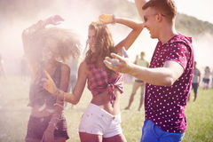 Outdoors party Stock Photography