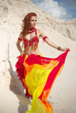 Outdoors photo of bellydance Royalty Free Stock Photography