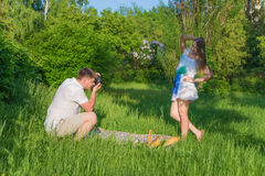 Outdoors photosession Royalty Free Stock Photo