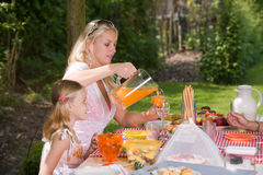 Outdoors picknick Stock Photography