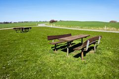 Outdoors Picnic table - perfect relaxing in nature Stock Photography
