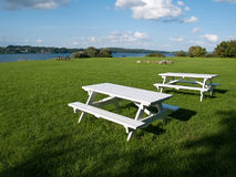 Outdoors Picnic tables Stock Image