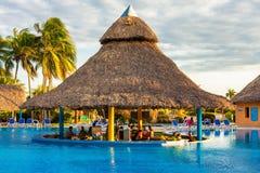 Outdoors pool at a hotel in Varadero,Cuba Stock Photo