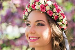 Gorgeous spring makeup woman. royalty free stock photo