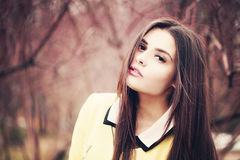 Outdoors Portrait of Beautiful Fashion Model Royalty Free Stock Photography