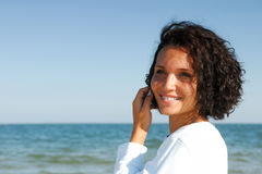 Outdoors portrait of beautiful woman royalty free stock image