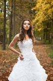 Beautiful young woman in wedding dress Royalty Free Stock Photos