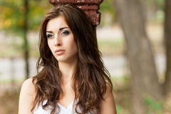 Beautiful young woman in wedding dress Stock Images