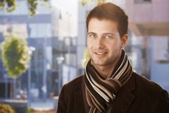 Outdoors portrait of handsome guy Royalty Free Stock Photography