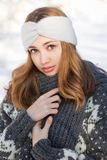 Fashion for the cold days. Royalty Free Stock Images