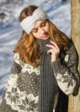 Fashion for the cold days. Royalty Free Stock Photos