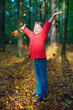 Outdoors portrait of smiling little girl Royalty Free Stock Images