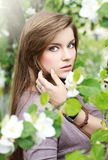 Outdoors portrait of  young  girl Royalty Free Stock Images