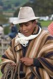 Outdoors portret chagra kowboj w Ekwador Fotografia Royalty Free