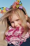 Outdoors portret dziewczyna Zdjęcia Royalty Free