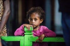 Outdoors portret niezidentyfikowana Papuaska mała dziewczynka Fotografia Royalty Free