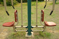 Outdoors public excercise machine. In a public park Royalty Free Stock Images