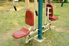 Outdoors public excercise machine. In a public park Stock Image