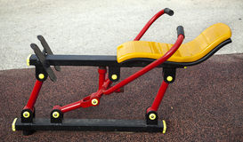 Outdoors Gym. Outdoors public excercise machine in a public park Royalty Free Stock Images