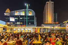 Outdoors restaurant in Bangkok Royalty Free Stock Photo