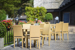 Outdoors restaurant Stock Photography