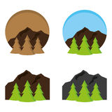 Outdoors 2. A set of outdoor icons Royalty Free Stock Photography