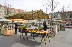 Outdoors stalls on market Stock Photo