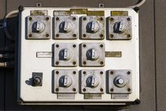 Outdoors switch panel Royalty Free Stock Image