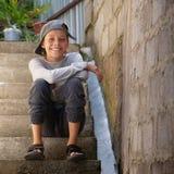 outdoors szczęśliwy nastolatek Obrazy Royalty Free