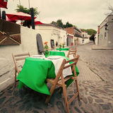Outdoors tables Royalty Free Stock Photos